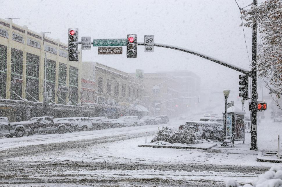 Download Free Stock HD Photo of Snow storm in Arizona Online