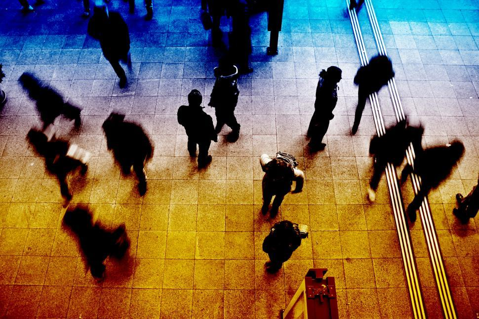Download Free Stock Photo of People at Subway Station - Blurred Looks
