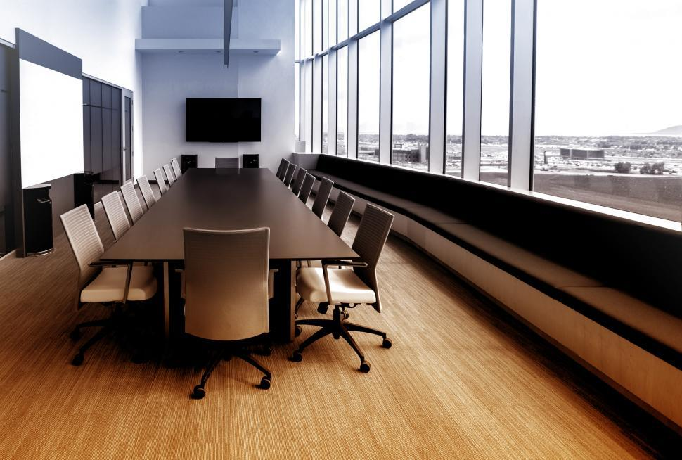 Download Free Stock Photo of Meeting Room - Colorized