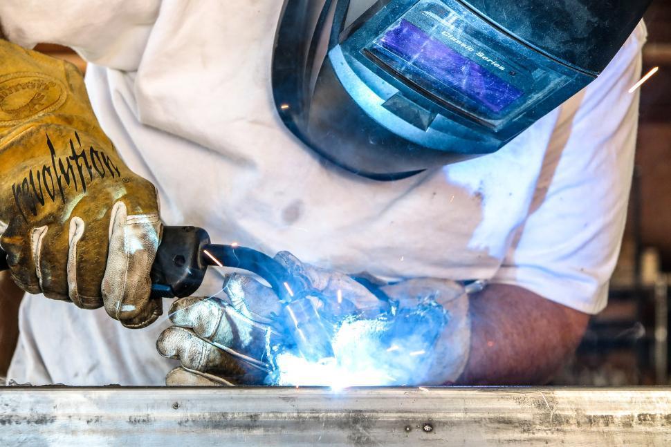 Download Free Stock Photo of Welding steel tubing