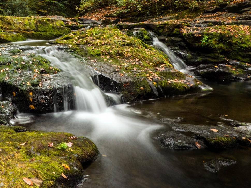 Download Free Stock Photo of Small Waterfall Cascade