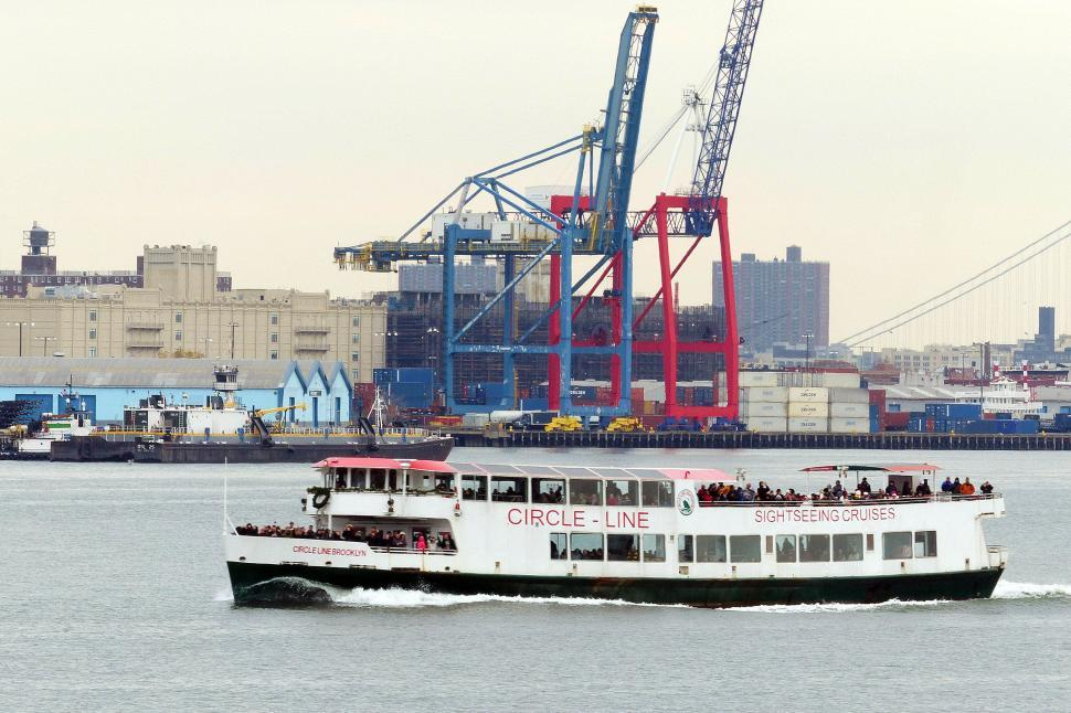Download Free Stock HD Photo of Circle Line Sightseeing Cruise Ship Online