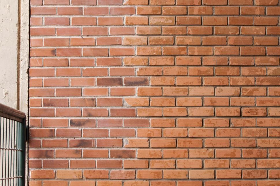 Download Free Stock Photo of Red brick wall