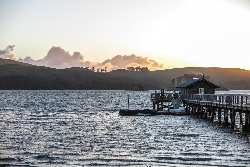 Download Free Stock Photo of Pier in Tomales Bay