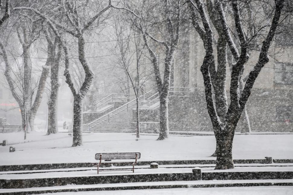 Download Free Stock HD Photo of Snow in the square Online