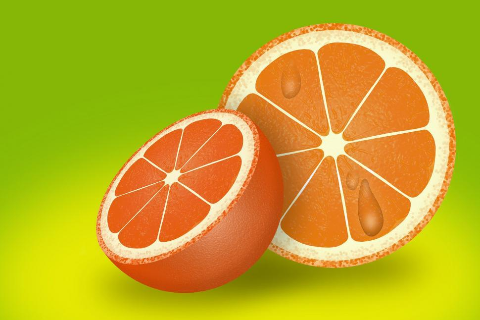 Download Free Stock Photo of composite manipulation photo manipulation orange vitamin citrus fruit