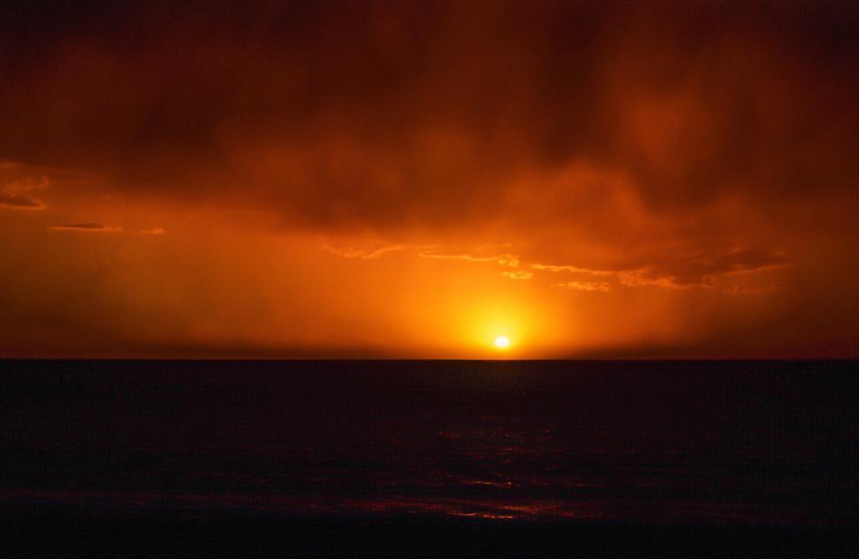 Download Free Stock Photo of Dark moody Sunset