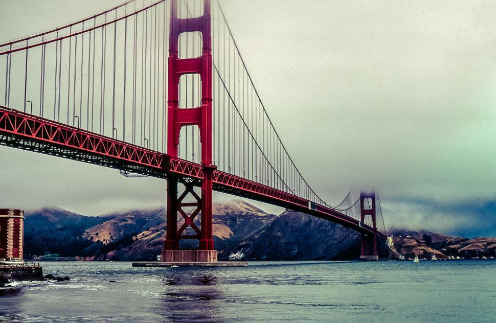 Download Free Stock HD Photo of Vividly processed Golden Gate Bridge, San Francisco, California, Online
