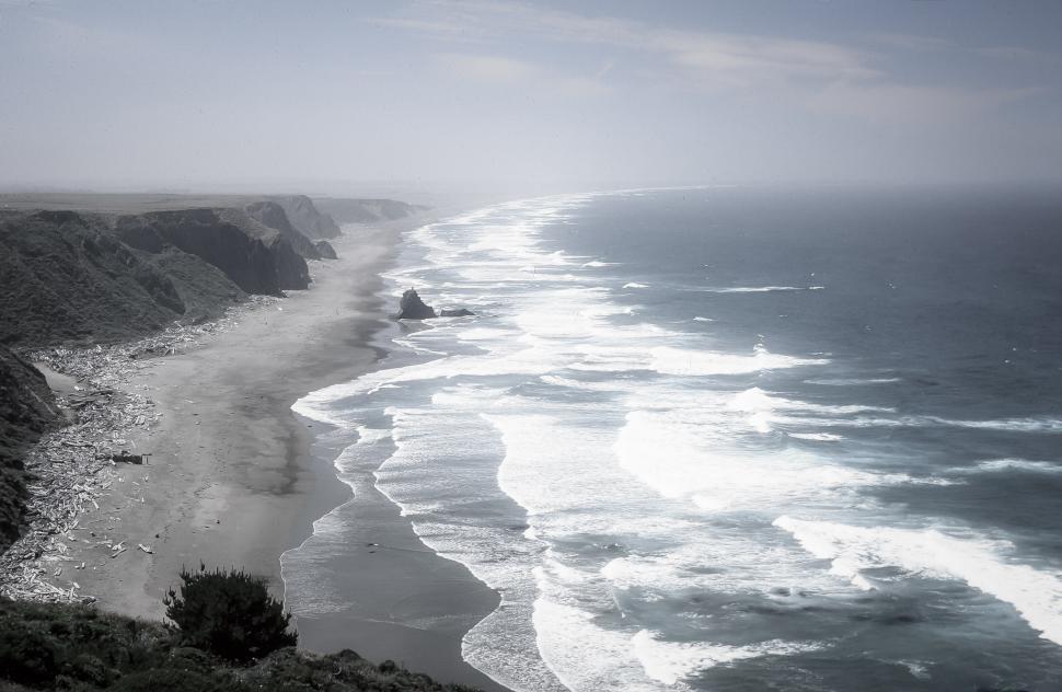 Download Free Stock HD Photo of Bandon Beach Haze Online