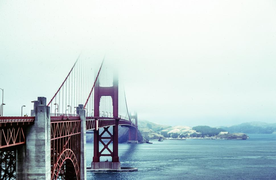 Download Free Stock HD Photo of Golden Gate Bridge Fogged Over Online