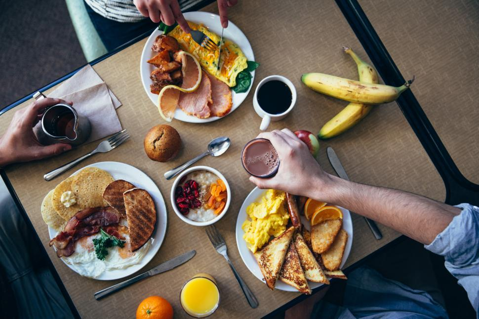 Download Free Stock HD Photo of Breakfast From Above Online