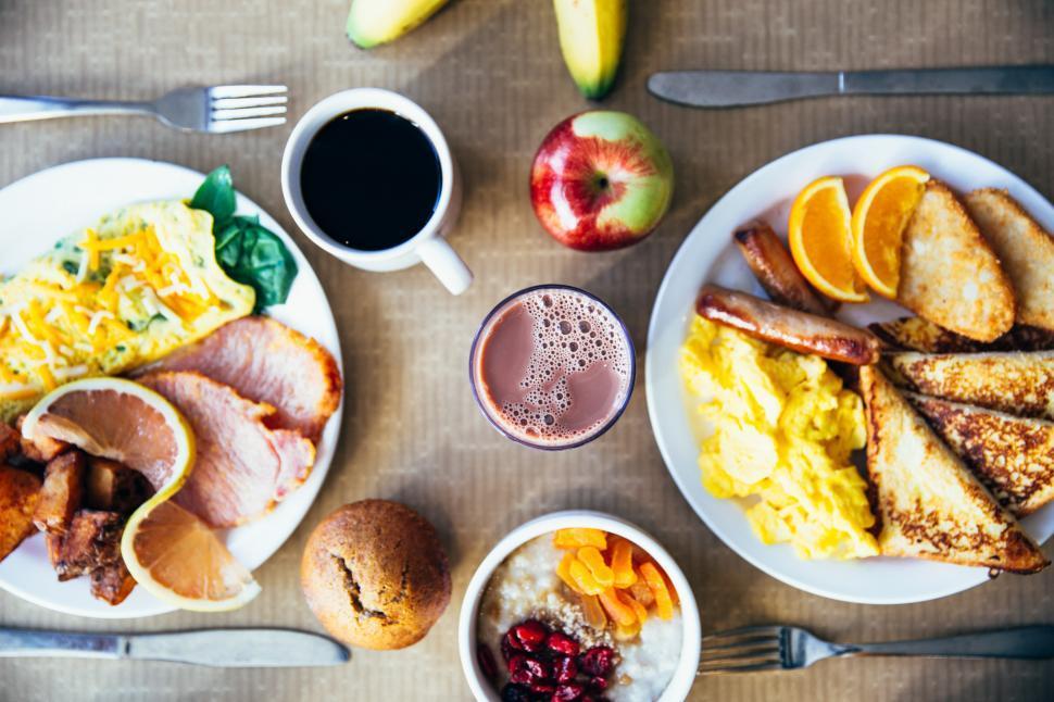 Download Free Stock Photo of Restaurant Breakfast