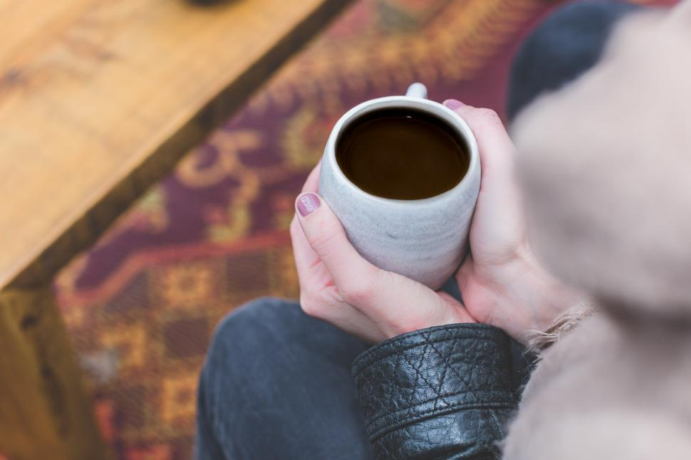 Download Free Stock HD Photo of Womans Hands Holding Coffee Online
