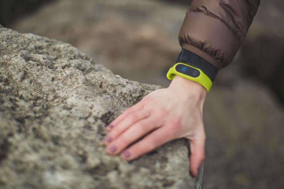 Download Free Stock Photo of Fitness Tracker on Woman s Hand
