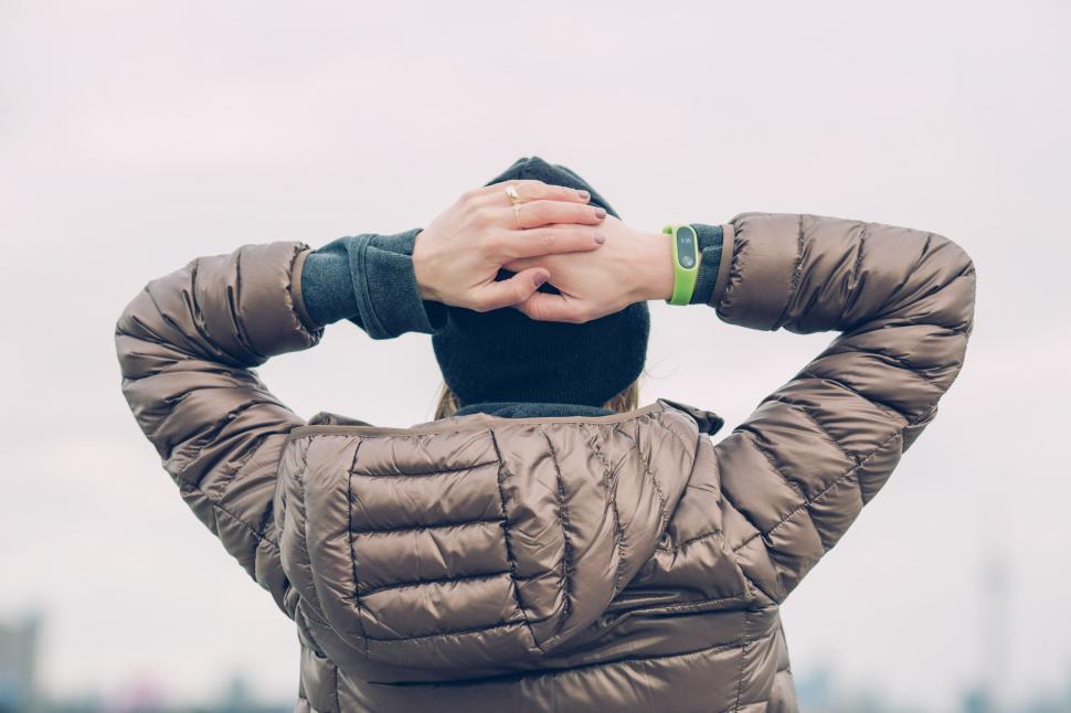 Download Free Stock Photo of Woman Wearing Winter Jacket