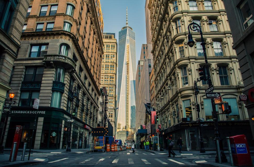 Download Free Stock Photo of Building Downtown Manhattan NYC