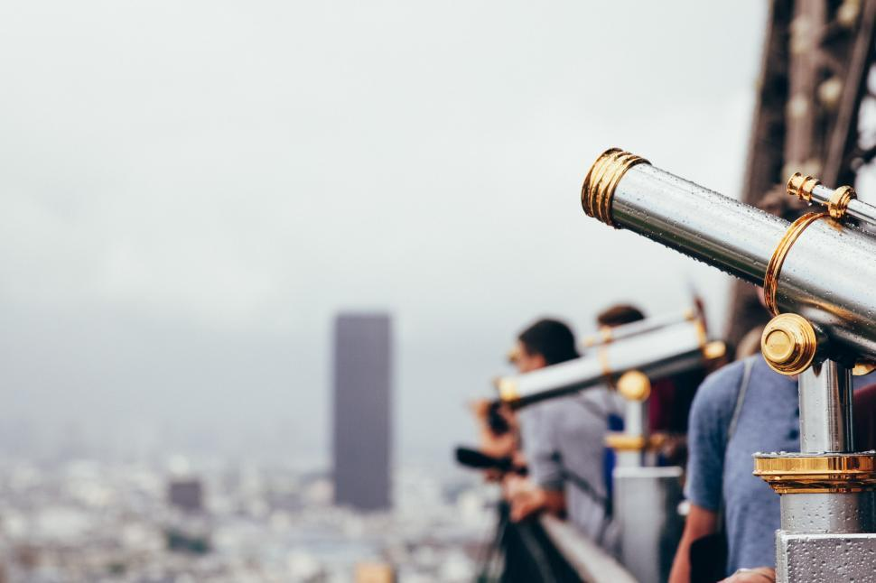 Download Free Stock Photo of Tourist Telescopes City View