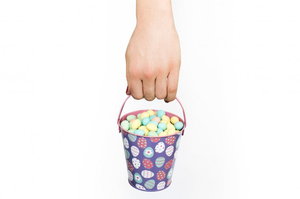 Download Free Stock Photo of Carrying Easter Egg Basket