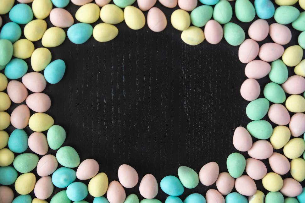 Download Free Stock Photo of Easter Egg Border