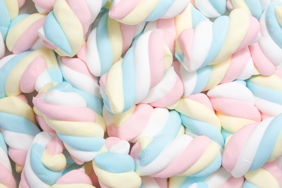 Download Free Stock Photo of Marshmallow Candy Texture