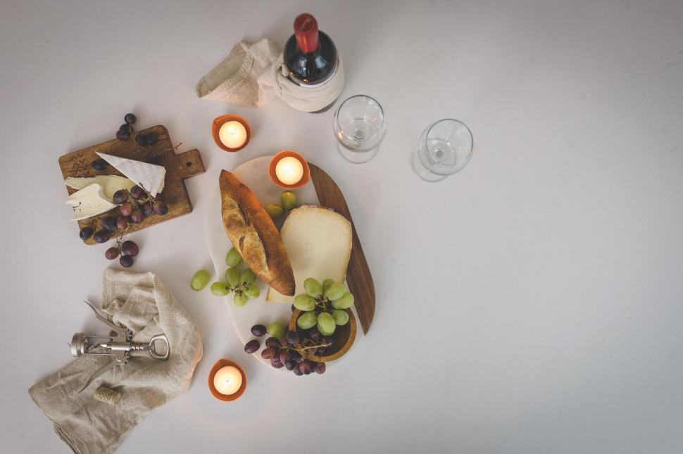 Download Free Stock Photo of Wine And Cheese Party
