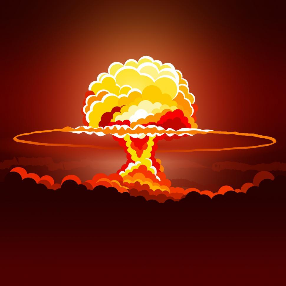 Download Free Stock Photo of Nuclear Explosion - Illustration