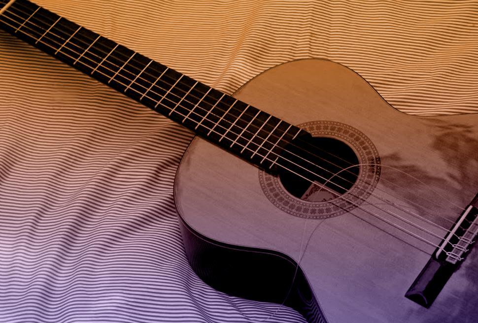 Download Free Stock HD Photo of Classic Acoustic Guitar with Broken String Online