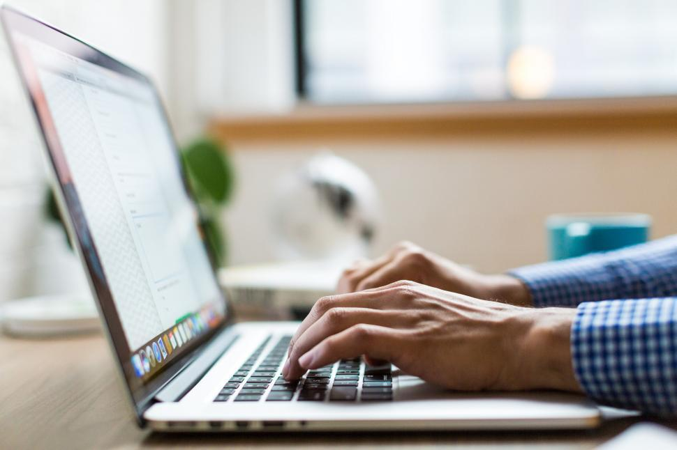 Download Free Stock Photo of Hands Typing On Laptop