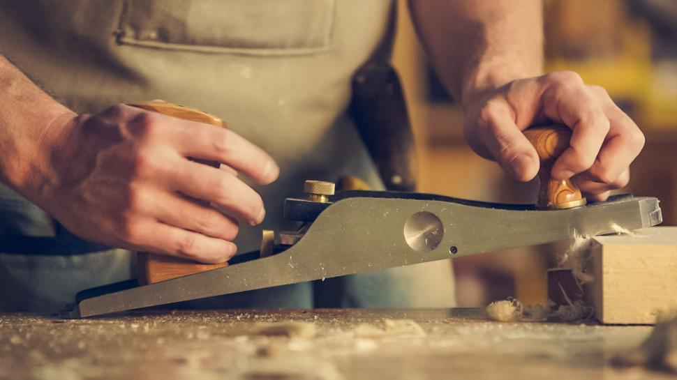 Download Free Stock Photo of Man Crafting Wood
