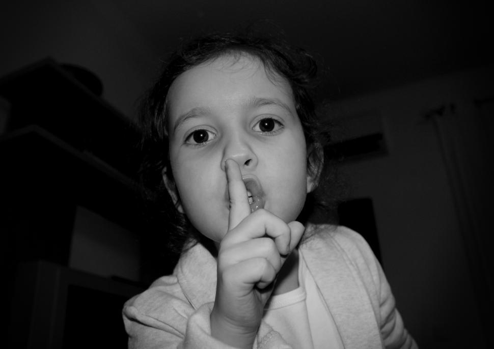 Download Free Stock HD Photo of Little Angry Girl - Shut Up Gesture Online