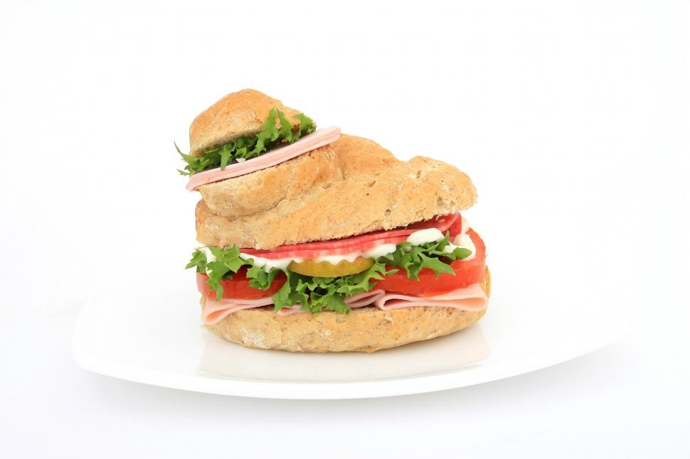 Download Free Stock Photo of sandwich snack food dish food bread lettuce lunch meal cheese meat tomato snack nutriment dinner ham delicious diet healthy vegetable plate onion fresh vegetables toast gourmet tasty breakfast eat fast tomatoes beef salad chicken slice leaf nutrition cuisine restaurant