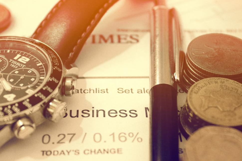 Download Free Stock Photo of Business and Finance Concept - Business Word on Financial Newspa