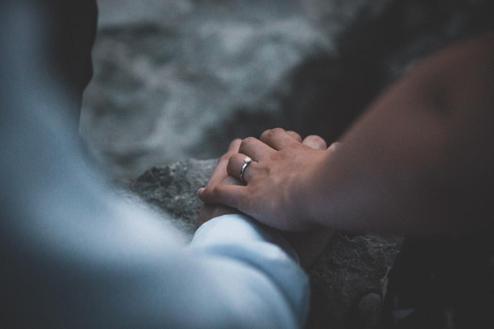 Download Free Stock Photo of Wedding Rings Couples Hands