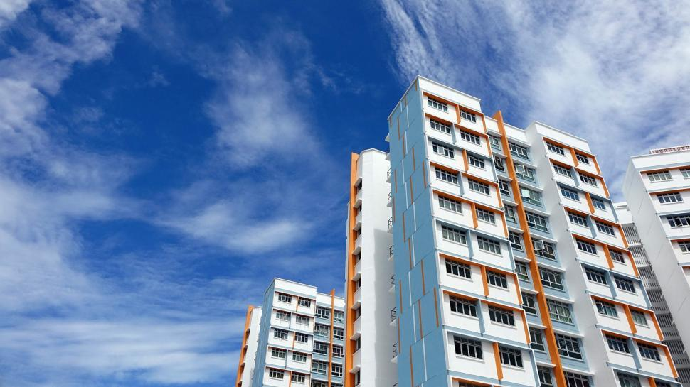 Download Free Stock Photo of Urban Apartment Buildings