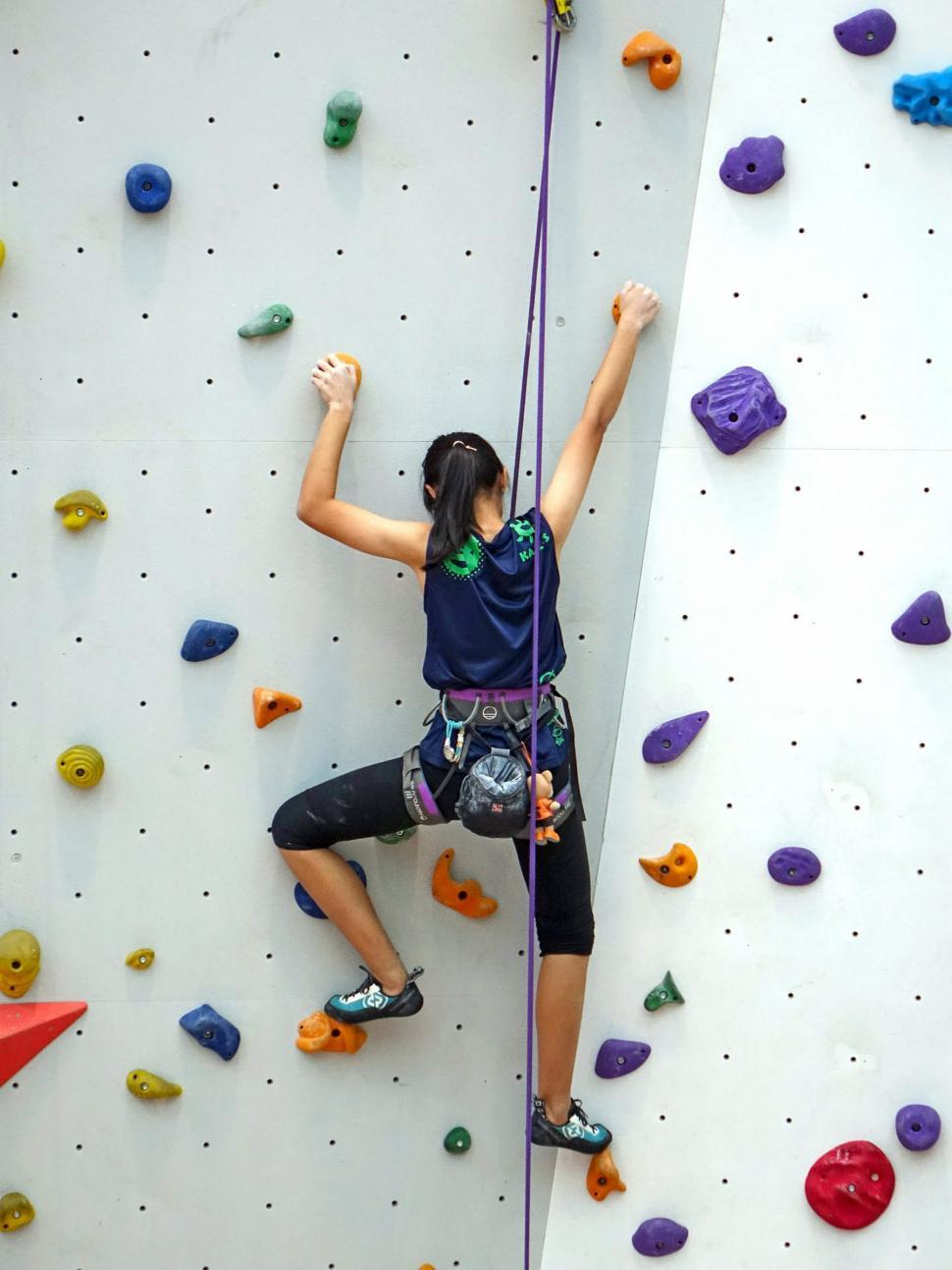 Download Free Stock Photo of Wall Climbing with ropes