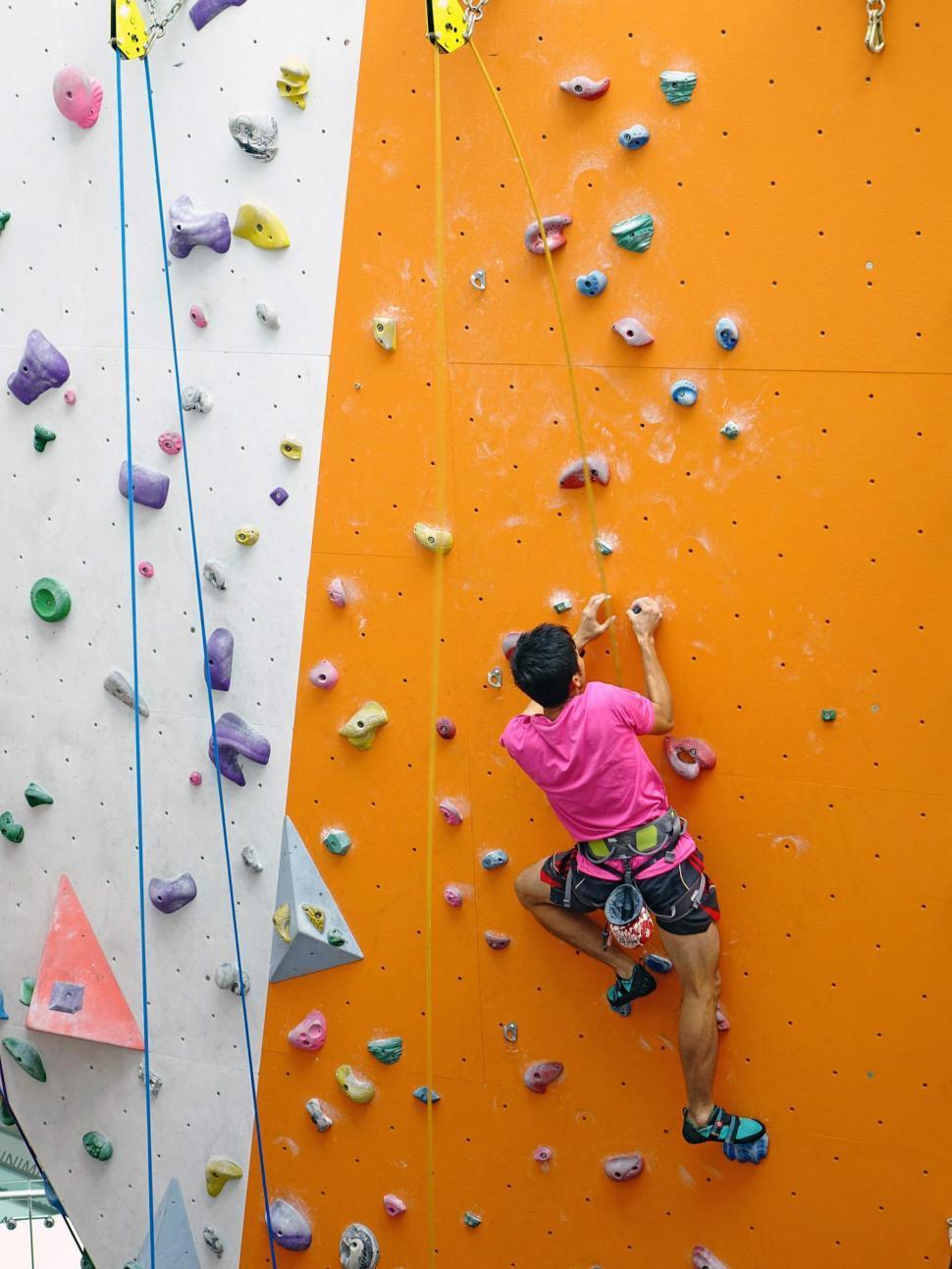 Download Free Stock Photo of Indoor rock climbing