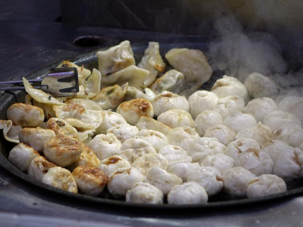 Download Free Stock Photo of Cooking Dumplings