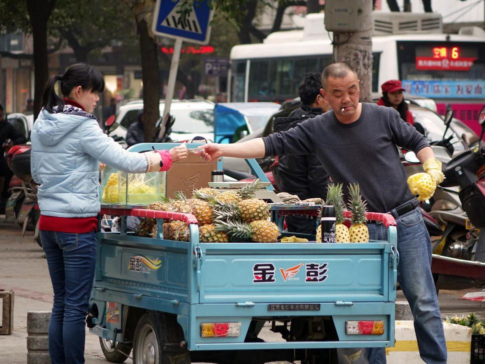 Download Free Stock HD Photo of Fruit Seller Online