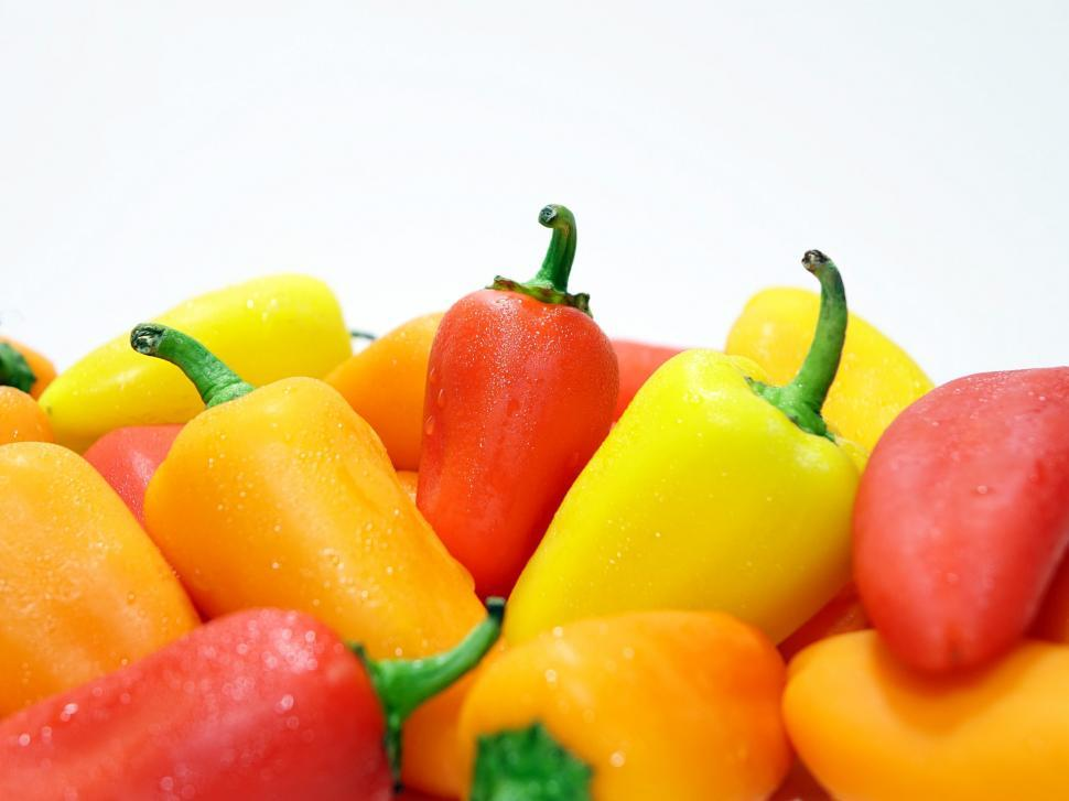 Download Free Stock HD Photo of Peppers on White Online