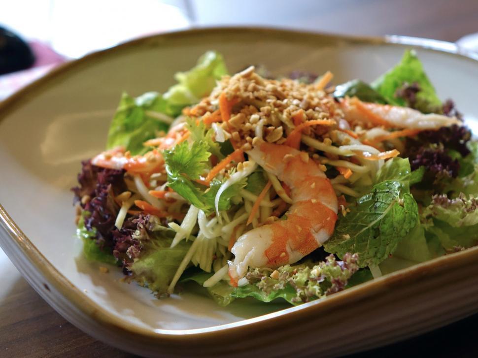 Download Free Stock Photo of Prawn Salad, Shrimp Salad