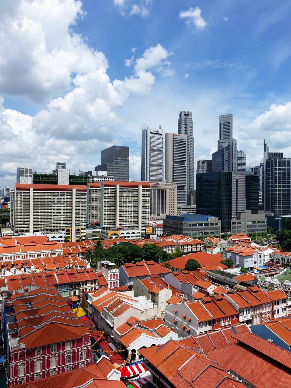 Download Free Stock HD Photo of Singapore City over rooftops Online