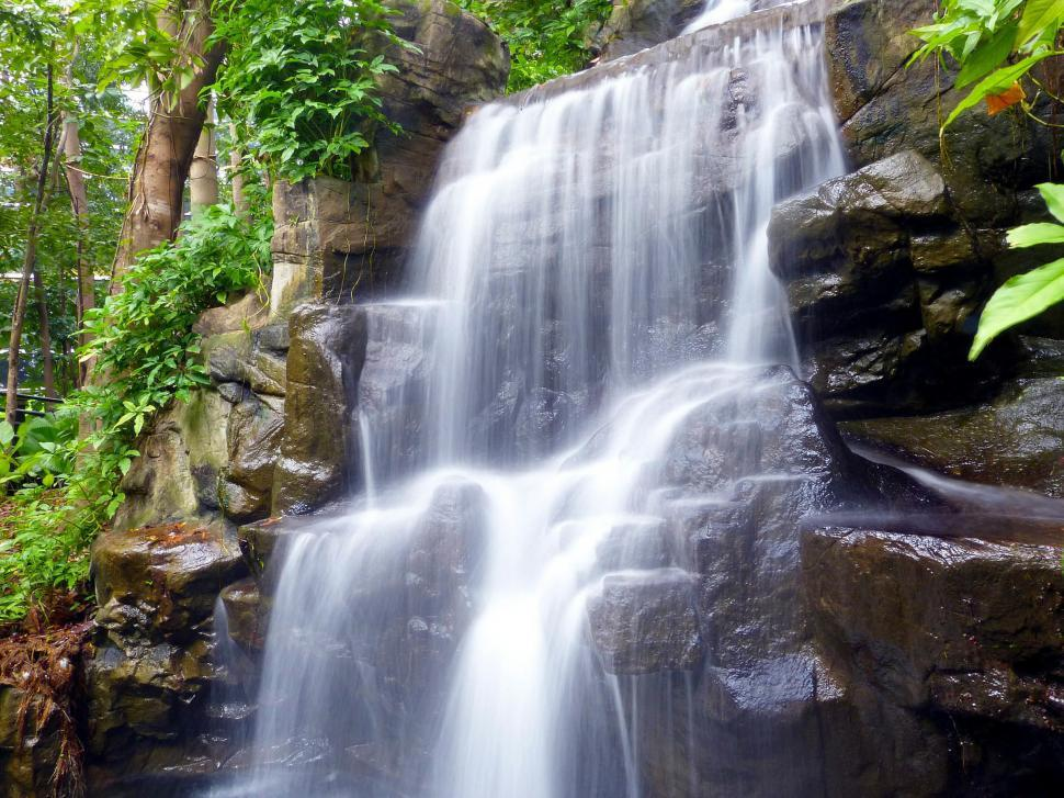 Download Free Stock Photo of Wide Waterfall
