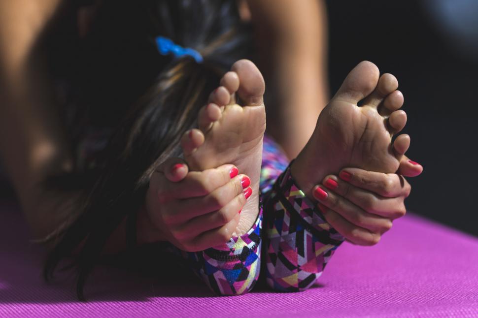 Download Free Stock Photo of Yoga Forward Fold Feet