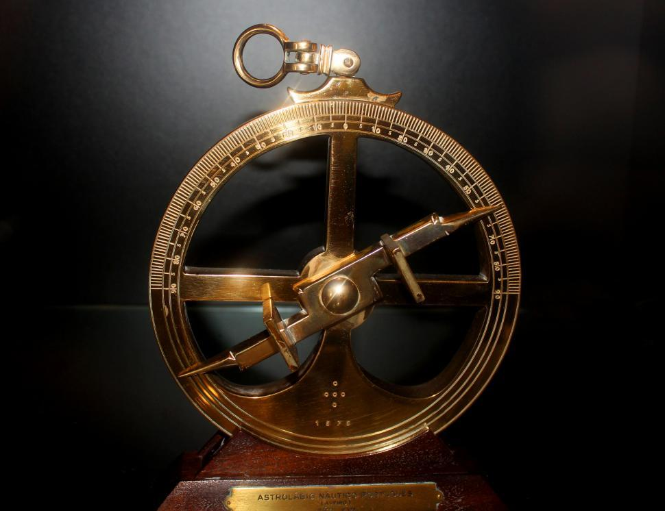 Download Free Stock HD Photo of 16th-Century Portuguese Nautical Astrolabe - European Age of Dis Online