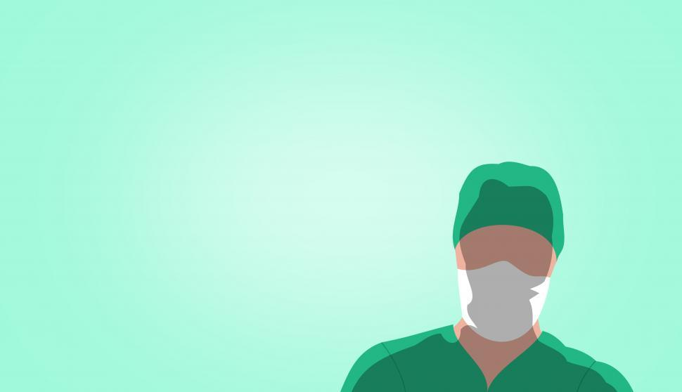 Download Free Stock Photo of Surgeon Silhouette - Image with Copyspace