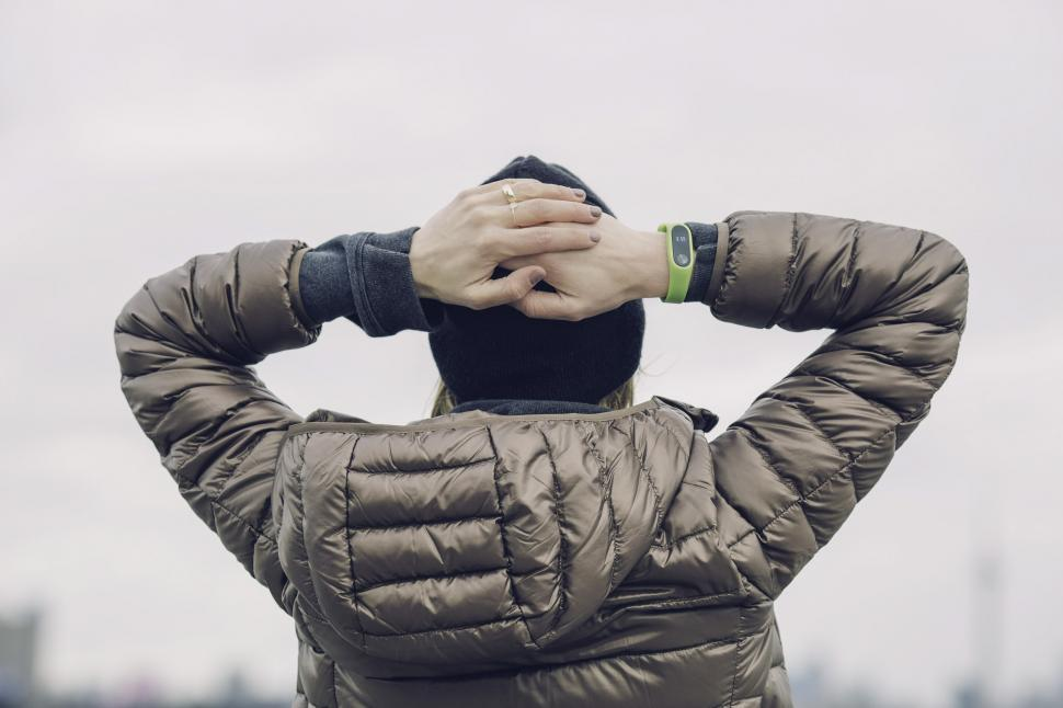 Download Free Stock Photo of Woman Wearing Winter Jacket