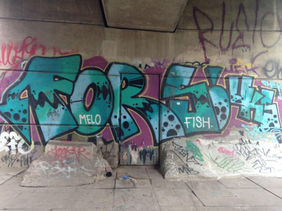 Download Free Stock Photo of Mancunian Way Graffiti