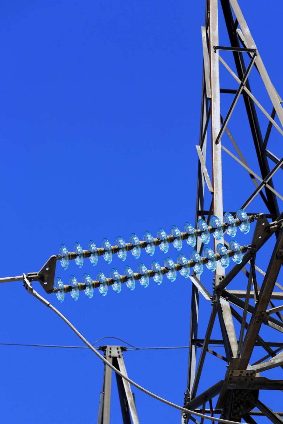 Download Free Stock Photo of High voltage tower closeup