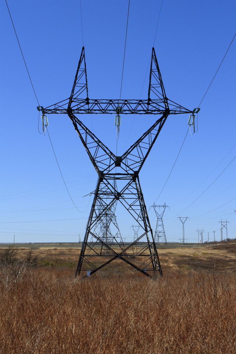 Download Free Stock Photo of High voltage tower