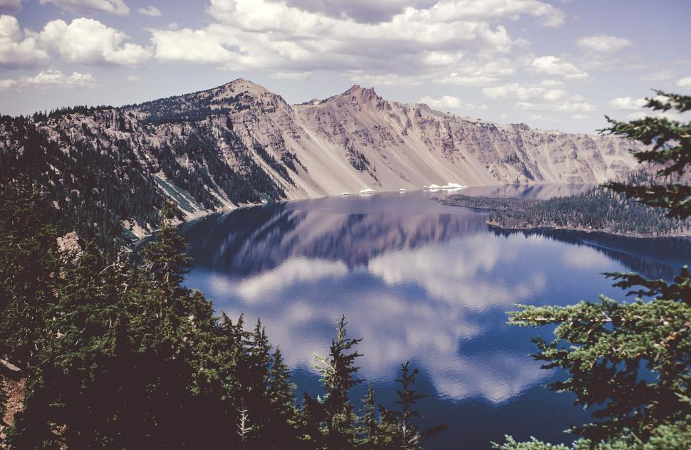 Download Free Stock Photo of View of Crater Lake